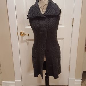 A. Gianetti gray cardigan sweater size S